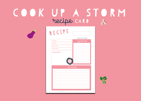 Cook Up A Storm Recipe Card (Rose)