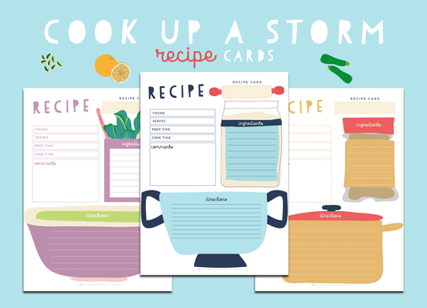 Cook Up A Storm Recipe Cards
