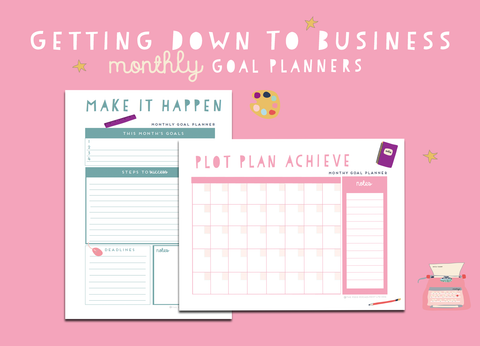 Getting Down To Business Monthly Planners