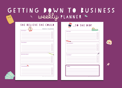 Getting Down To Business Weekly Planner