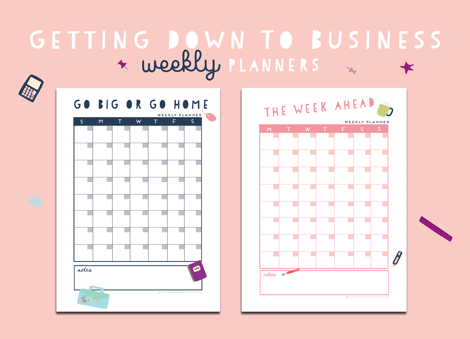 Getting Down To Business Weekly Planners
