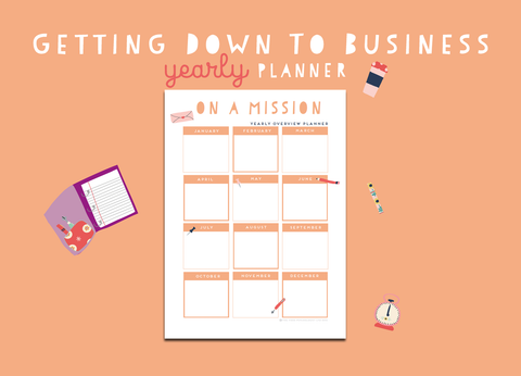 Getting Down To Business Yearly Planner