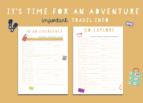 Time For An Adventure Important Travel info
