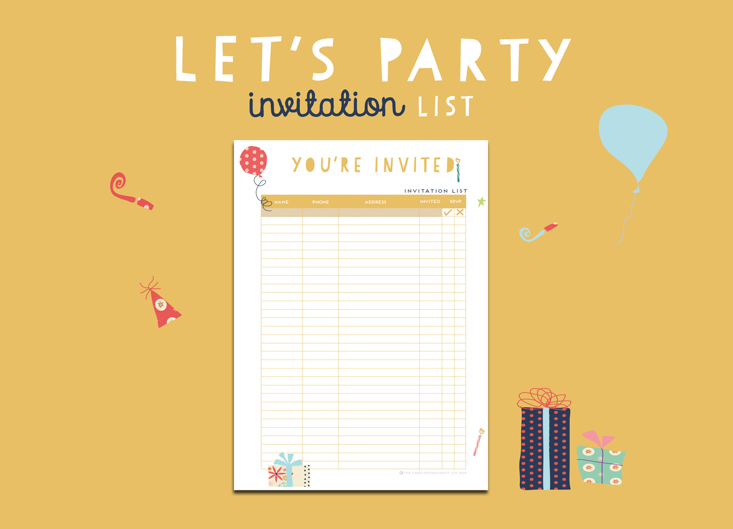 Let's Party Invitation List