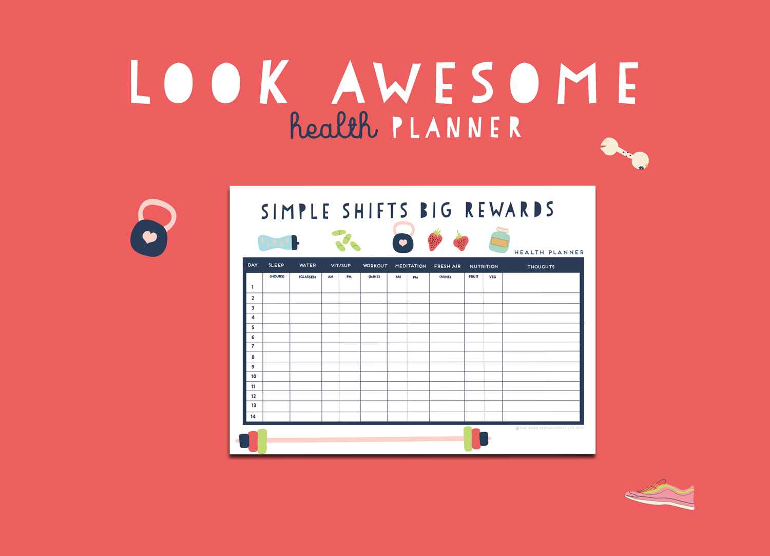 Look Awesome Health Planner