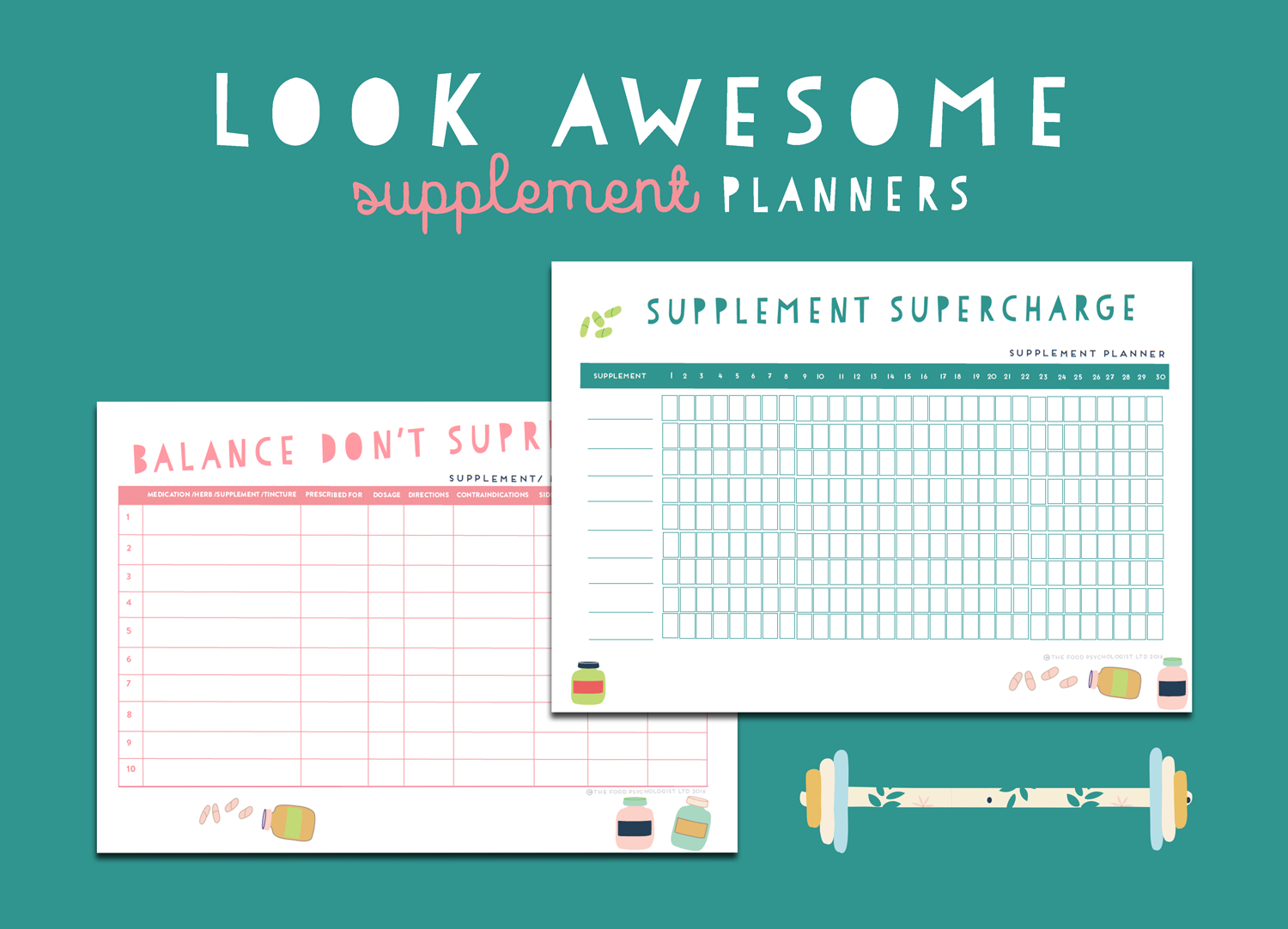 Look Awesome Supplement Planners
