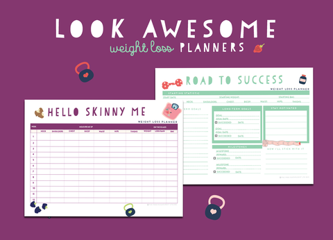 Look Awesome Weight Loss Planners