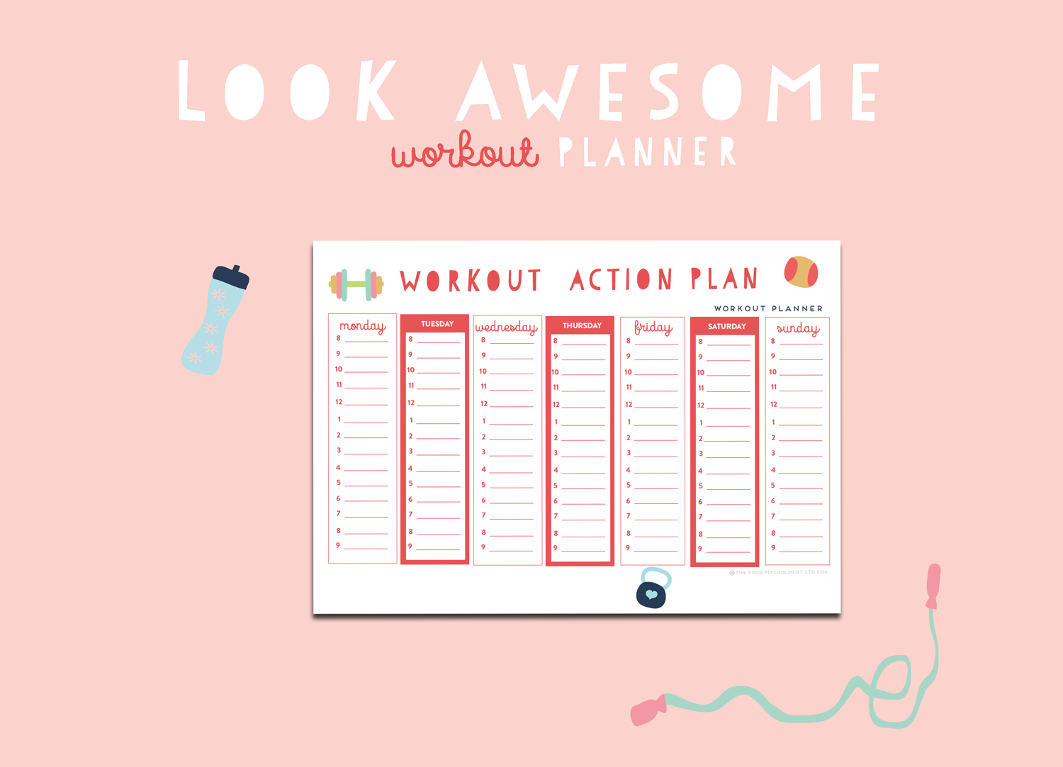 Look Awesome Workout Planner