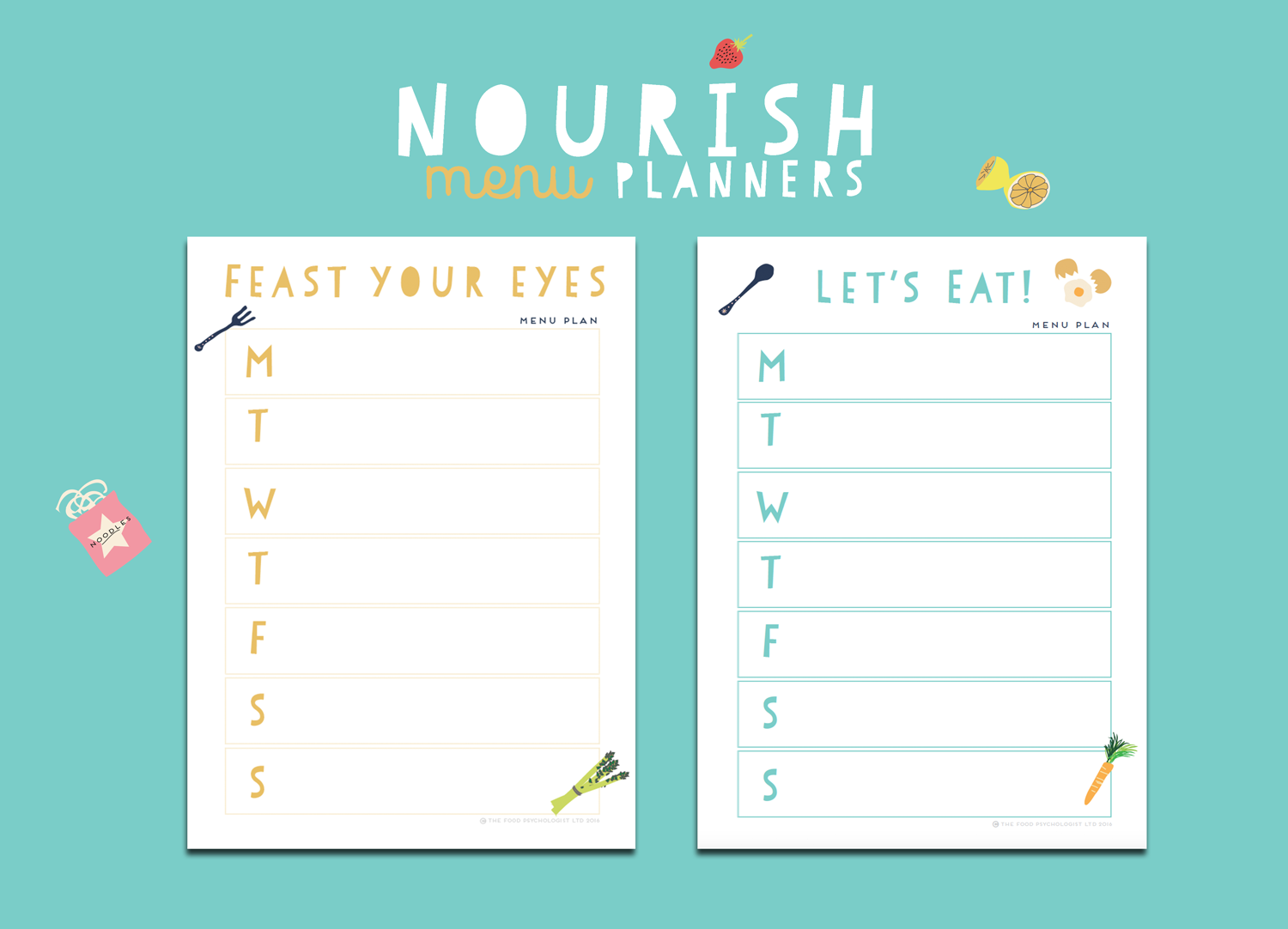 Nourish Menu Planner & Kitchen Kit – The Food Psychologist