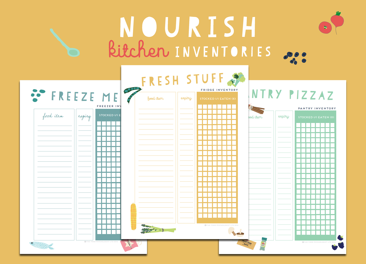 Nourish Kitchen Inventories