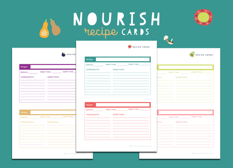 Nourish Recipe Cards