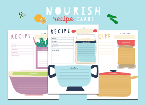 Nourish Recipe Cards (Pictures)