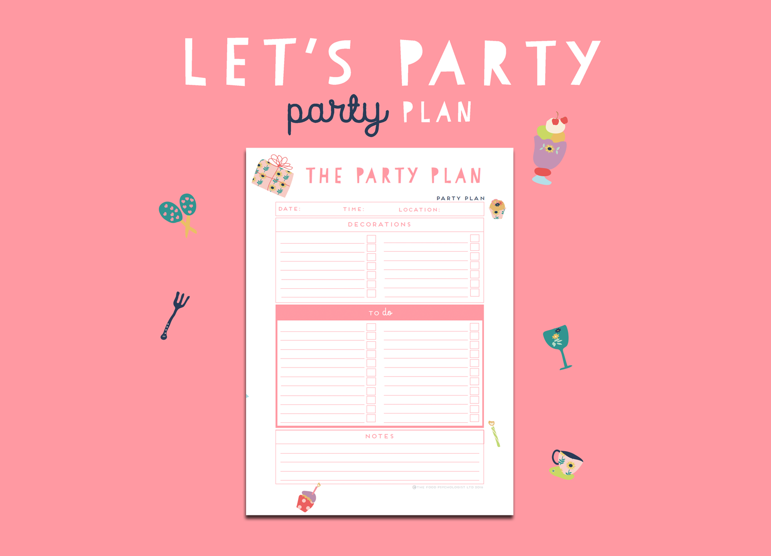 Let's Party Party Plan (Rose)