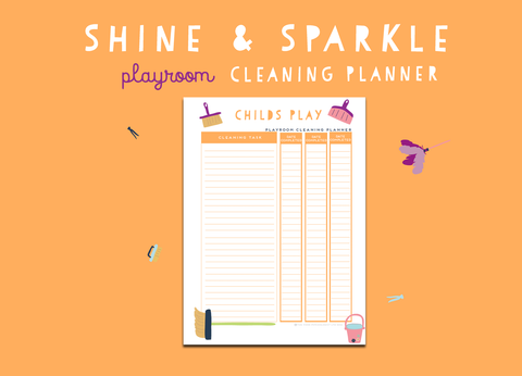 Shine & Sparkle Playroom Cleaning Planner