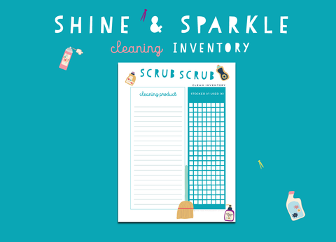 Shine & Sparkle Cleaning Inventory