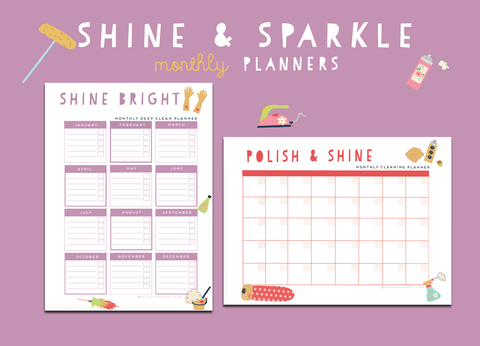Shine & Sparkle Monthly Planners