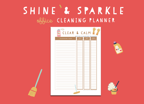 Shine & Sparkle Office Cleaning Planner