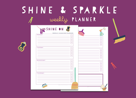 Shine & Sparkle Weekly Planner
