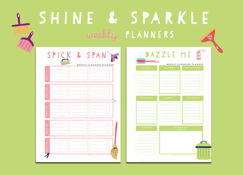 Shine & Sparkle Weekly Planners