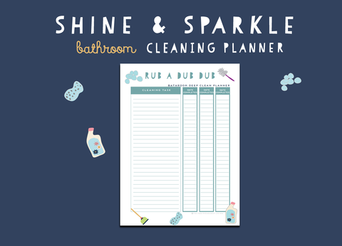 Shine & Sparkle Bathroom Cleaning Planner