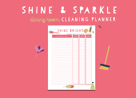 Shine & Sparkle Dining Room Cleaning Planner
