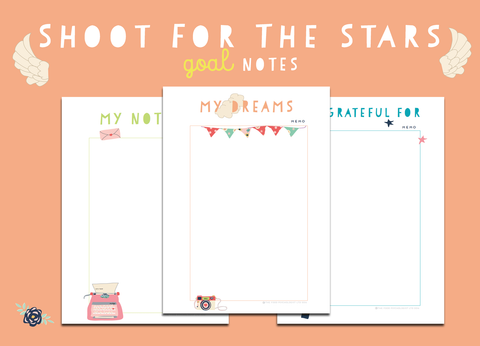 Shoot For The Stars Goal Notes