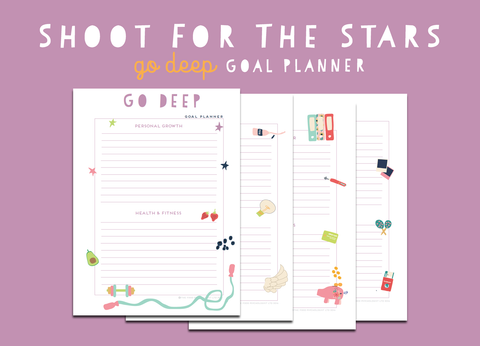 Shoot For The Stars Go Deep Goal Planner