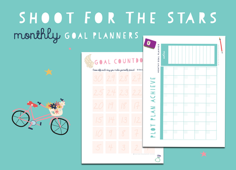 Shoot For The Stars Monthly Goal Planners