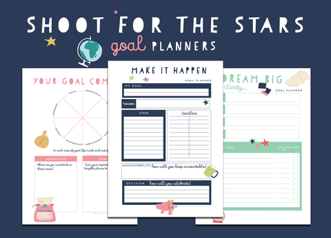 Shoot For The Stars Goal Planners