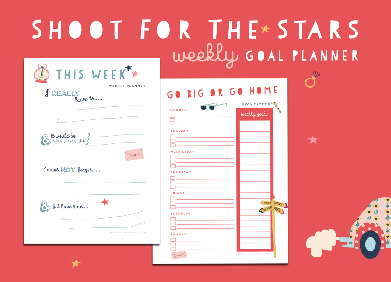 photo relating to Goal Planners identify Shoot For The Celebrities Weekly Reason Planners