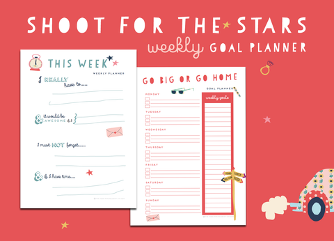 Shoot For The Stars Weekly Goal Planners