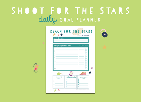 Shoot For The Stars Daily Goal Planner