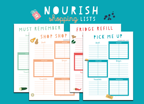 Nourish Shopping Lists (Box Style)