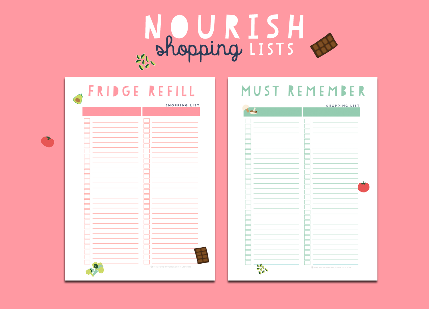 Nourish Shopping Lists