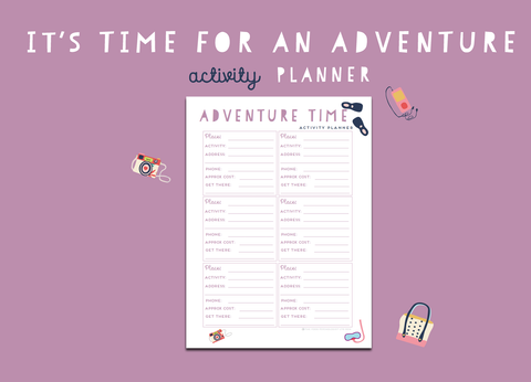 Time For An Adventure Activity Planner