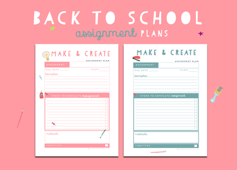 Back To School Assigment Plan