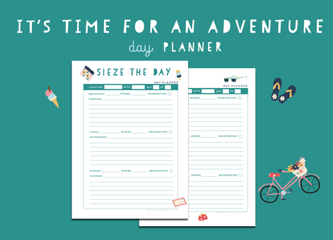 Time For An Adventure Day Planner