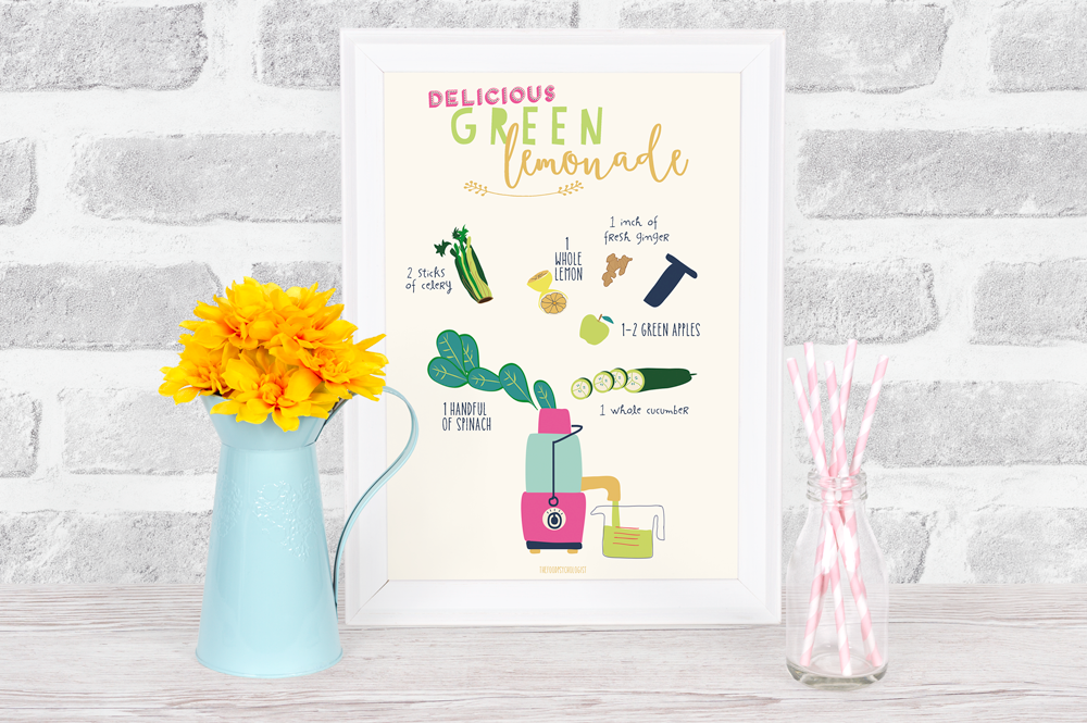 Delicious Green Juice Recipe Print