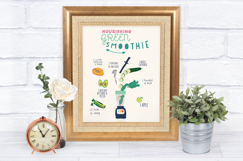 Nourishing Green Smoothie Recipe Print