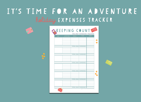 Time For An Adventure Holiday Expenses Tracker