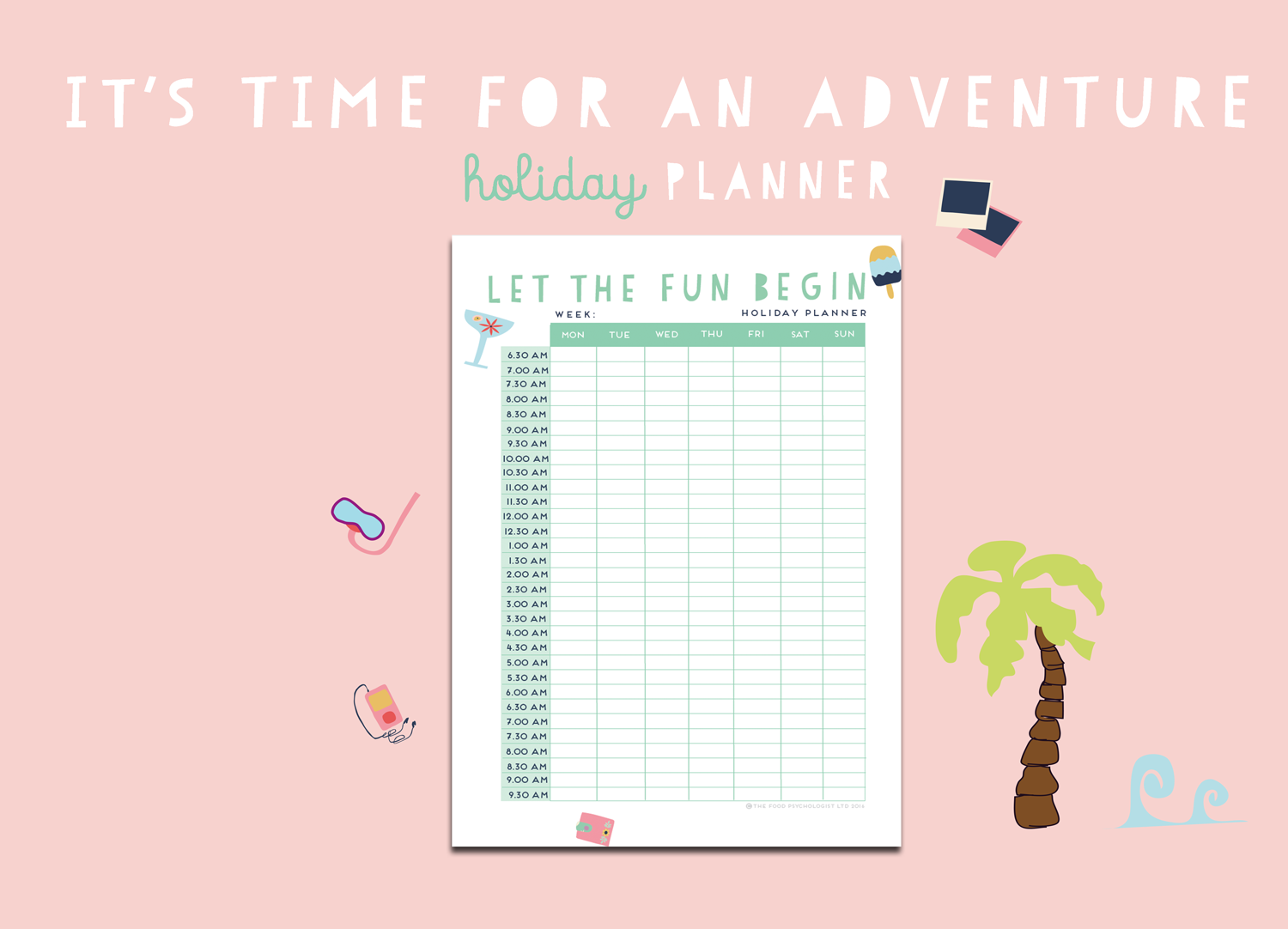 Time For An Adventure Holiday Planner