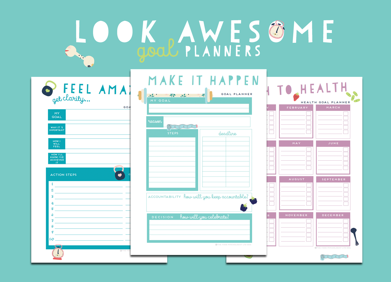 photograph relating to Goal Planners referred to as Glimpse Remarkable Physical fitness Health and fitness Planner Package