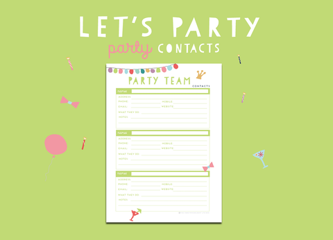 Let's Party Contacts
