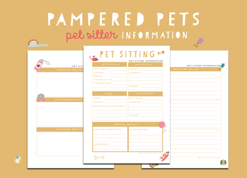 Pampered Pets Pet Sitting Information