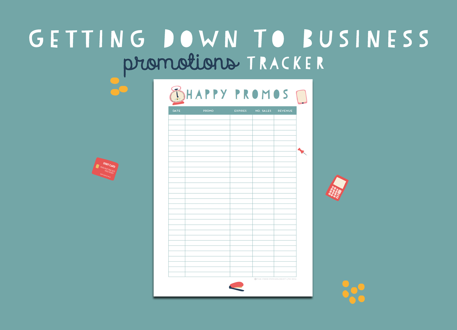 Getting Down To Business Promotions Tracker