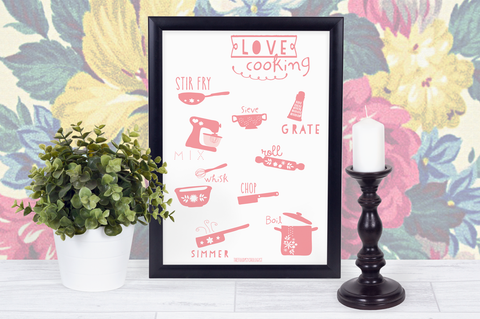 Love Cooking (Various Text Colours)