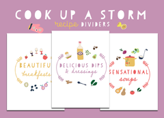 Cook Up A Storm Recipe Dividers