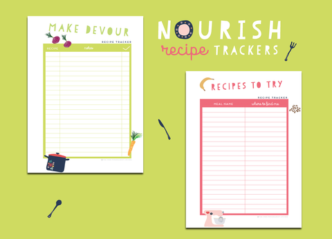 Nourish Recipe Trackers