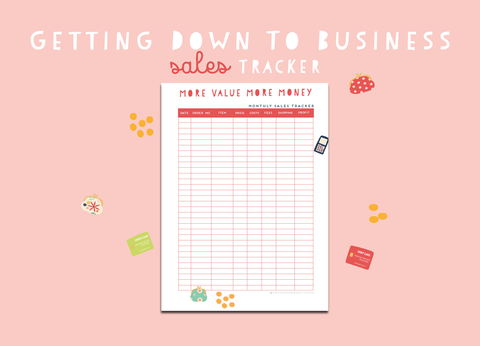 Getting Down To Business Sales Tracker