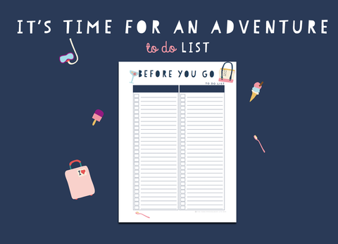 Time For An Adventure To Do List